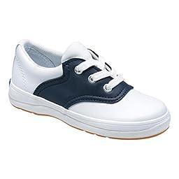 Keds School Days II Sneaker (Little Kid/Big Kid),White/Navy,13.5 M US Little Kid