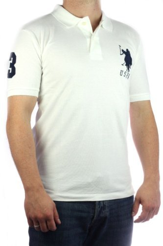 US Polo Assn. Men´s USPA Big Pony polo shirt white-navy limited