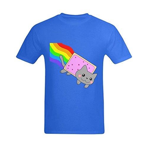 LittleArt Men's Cartoon Nyan Cat T-Shirt - Fans T-shirt US Size 12