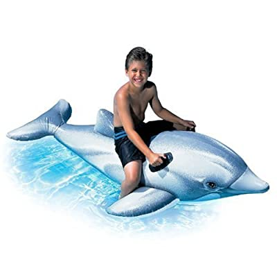 Intex Childrens Large Inflatable Ride On Dolphin 2.01m Swimming Pool Fun Accessory