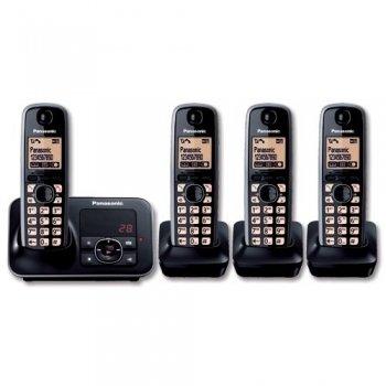 Panasonic KXTG6524 Digital Cordless Phone with Answer Machine - Quad