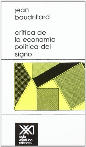 Crítica de la economía política del signo (Teoría)