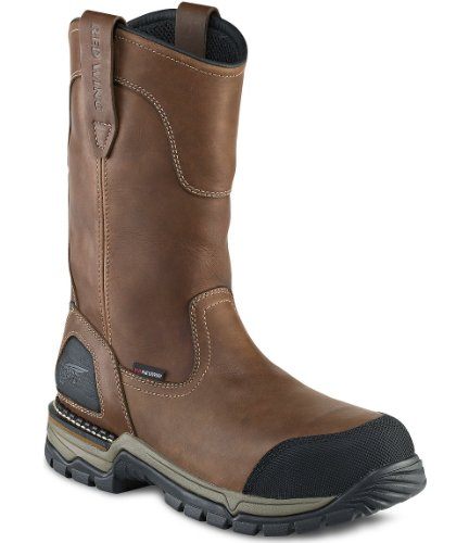 """Red Wing Shoes Mens 11"""" Pull-On Boot (11D, Brown Taos Leather)"""