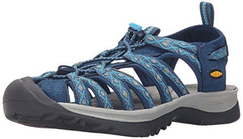 KEEN Women's Whisper Sandal, Poseidon/Blue Danube, 8 M US