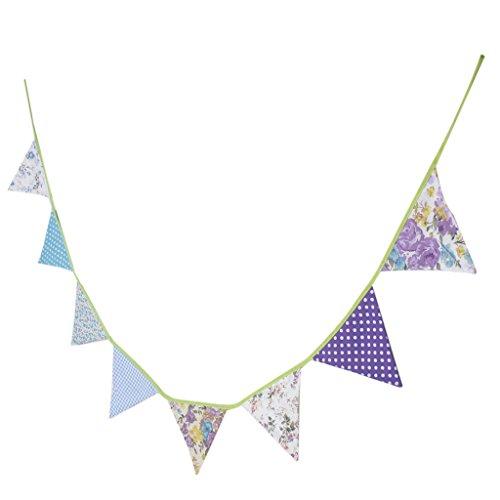 2,3M Guirlande Bannière Banderole Décoration pour Cérémonie Mariage Anniversaire - Motifs Multiples