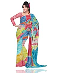 Unnati Silks Women Pure Tussar Silk Modern Art Multicolour Saree