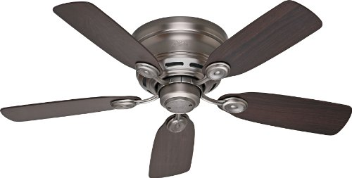 "Hunter 51060, Low Profile Iv Antique Pewter Flush Mount 42"" Ceiling Fan"