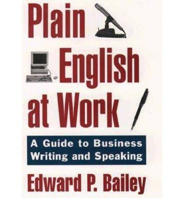 Plain English Approach to Business Writing
