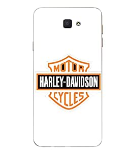 Case Cover Harley Davidson Printed White Soft Back Cover For SAMSUNG Galaxy J7 Prime