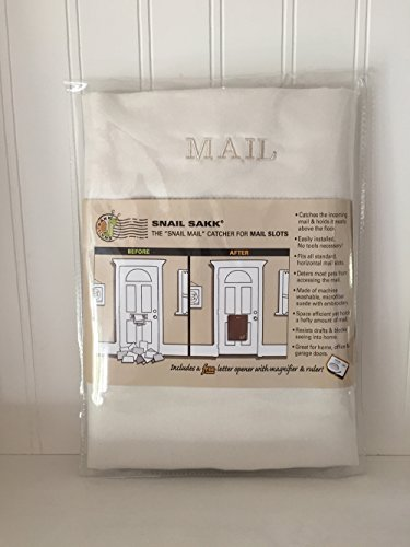 SNAIL SAKK: Mail Catcher for Mail Slots - CREAM (2nd Quality) (Garage Mail Bag compare prices)