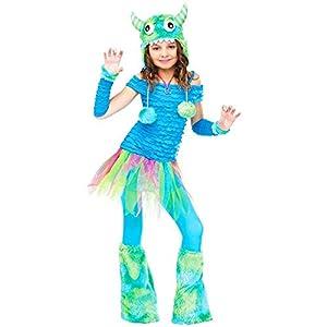 Big Girls' Blue Beastie Monster Costume Large (12-14)