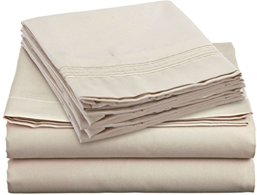 Bed Sheet Sets - Hotels Colection 2000 (New Edition) Supreme 4 Pieces Available in 15 Colors (Full, Beige) (Hotel Collection Full Sheet Set compare prices)