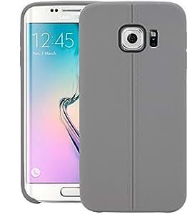 Galaxy S6 EDGE+ Case, Dr Chen Stiched Line Design Armor Tpu Back Case Cover For Samsung Galaxy S6 EDGE+ (Grey)