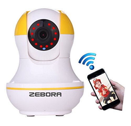 Super HD Internet WiFi Wireless Network IP Security Surveillance Video Camera System, Baby and Pet Monitor with Pan and Tilt, Two Way Audio & Night Vision