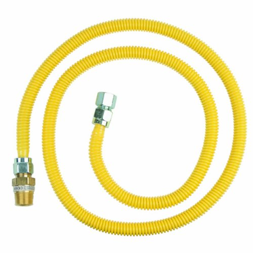Brasscraft Cssc12E-72 P 5/8-Inch Outer Diameter Safety Gas Appliance Connector With Excess Flow Valve