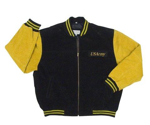 Suede Army Baseball Type Jacket