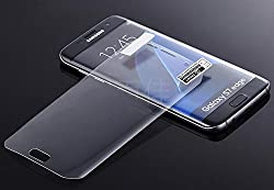 K/B Full Screen Coverage Buff Screen Guard Protector For Samsung galaxy S7 Edge - Transparent