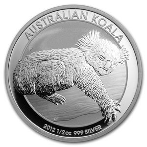 2012 Australian Koala 1/2 Troy Ounce Silver Coin
