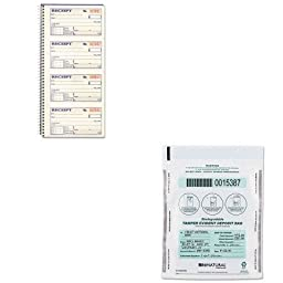 KITABFSC1152MMF236211306 - Value Kit - MMF Cash Bags (MMF236211306) and CARDINAL BRANDS INC. Two-Part Rent Receipt Book (ABFSC1152)