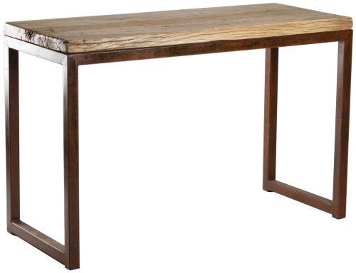 Cheap ZENTIQUE LNE-IA Reclaimed Elm Wood Console Table (LNE-IA)