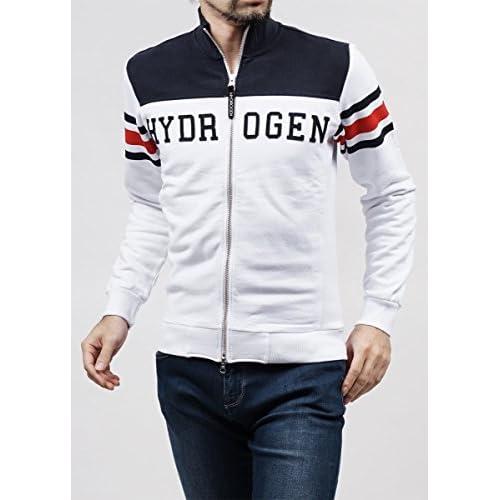 (ハイドロゲン) HYDROGEN トラックジャケット Sサイズ WHITE×BLUE NAVY [並行輸入品]