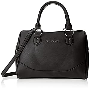 Franco Sarto Lita Satchel Handbag,Black,One Size