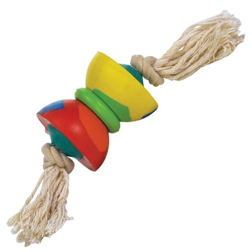 Hard Rubber Roller Rope Toy – Dog Toy