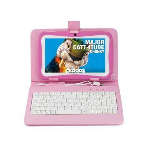 "Birthday Gift Bundle With Pink Keyboard Case-Pink Kid Tab 7"" Tablet Pc Android 4.1 Mid 4Gb Dual Camera Wifi External 3G For Children"