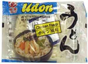 Udon Japanese Style Noodles with Soup Base - Chicken Flavor
