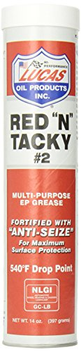 Lucas Oil 10005 Red 'N' Tacky Grease - 14 oz. (High Temp Bearing Grease compare prices)