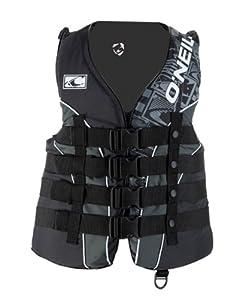 O'Neill Superlite USCG Vest (Blk/Met/Blk, Large)