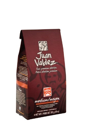 Juan Valdez Premium Colombian Coffee, Colina, 10-Ounce (Juan Valdez Coffee Beans compare prices)