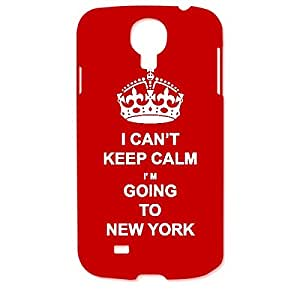 Skin4gadgets I CAN'T KEEP CALM I'm GOING TO NEW YORK - Colour - Red Phone Designer CASE for SAMSUNG GALAXY S4 (I9500)