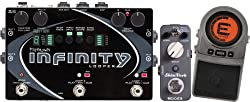 Pigtronix SPL Infinity Looper Guitar Effects Pedal w/ Mooer Reverb Pedal and Tru-Strobe Tuner Pedal by Pigtronix