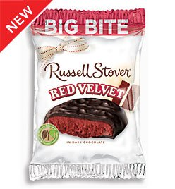 Russell stover big bite dark chocolate red for Food bar russell