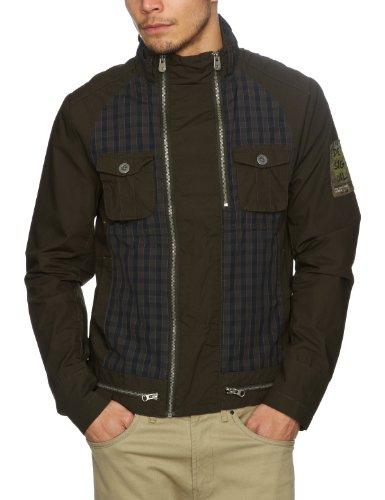 Desigual Volteo Men's Outerwear-Jackets Verde Oliva XX-Large
