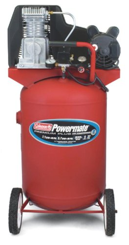 Cheap Coleman Powermate Premium Plus Series, Oil Lubricated Belt Drive, 27 gallon Air Compressor (CL0502713)
