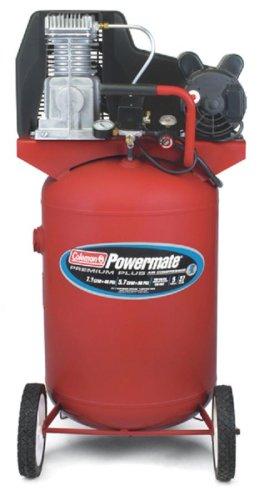 Cheap Coleman Powermate Premium Plus Series, Oil Lubricated Belt Drive, 27 gallon Air Compressor (CL0502713)