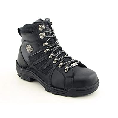 Harley Davidson Broadmoor Steel Toe Motorcycle Boots Black Mens by Harley-Davidson