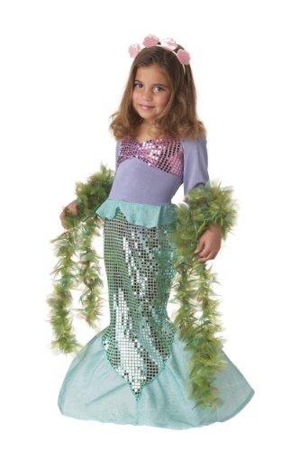 Lil' Mermaid Girl's Costume, Medium, Multicoloured