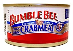 Bumble Bee, Premium Select, Fancy White Crabmeat, 6oz Can (Pack of 6)