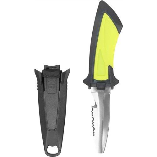 Tusa Mini BCD Knife, Blunt Tip - Flash Yellow