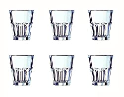Arcoroc Granity Old Fashion Tumbler Set, 270ml, Set of 6, Transparent