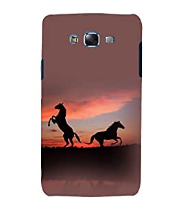 printtech Nature Animal Horse Back Case Cover for Samsung Galaxy Quattro i8552 / Samsung Galaxy Quattro Win i8552