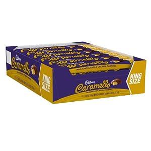 Cadbury Caramello Bar, Milk Chocolate & Creamy Caramel, 2.7-Ounce Bars (Pack of 18)