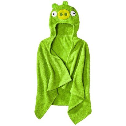 Angry Birds Hooded Towel - Green Pig
