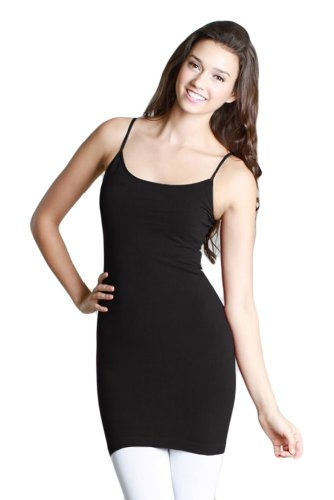 Nikibiki Super Long Camisole, Black, One Size (Nikibiki Tank compare prices)