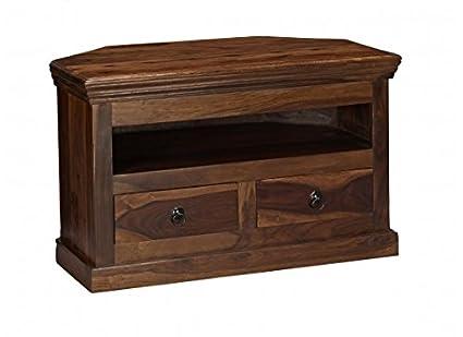 Mueble de TV en madera de Sheesham fixthedrip