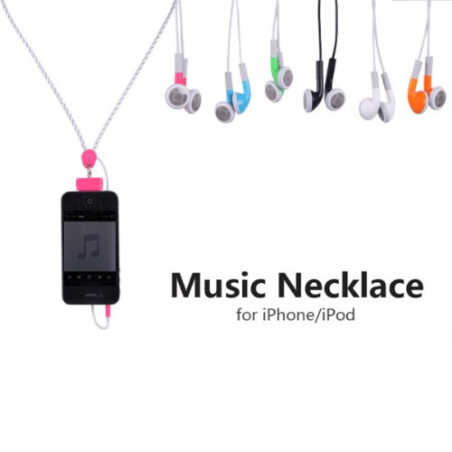 Championstore Music Necklace Headset Stereo Headphone For Iphone Ipod - Six Colors For Choice