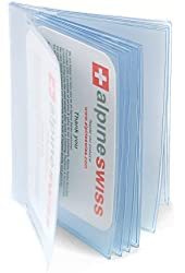 Plastic Wallet Insert Made in USA by Alpine Swiss 12 Pages Picture Card SET OF 2